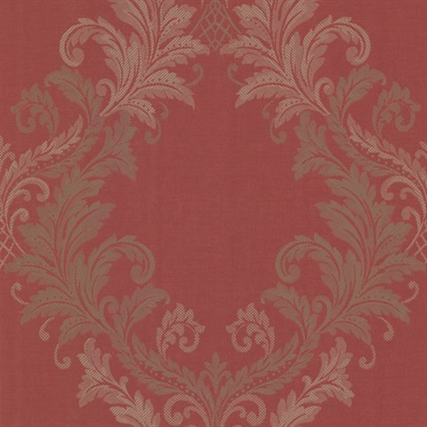 Sofia Red Royal Harlequin Scroll