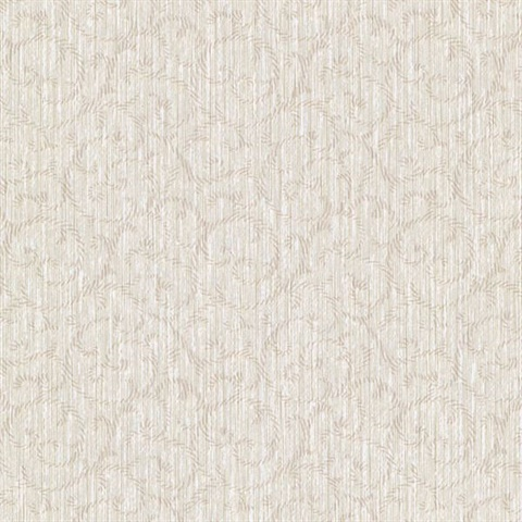 Flo Taupe Embroidered Scroll Texture