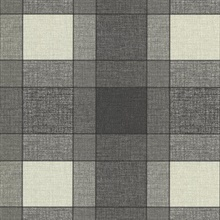 Kieran Black Wool Plaid