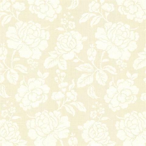 Sloane cream rose trail cce130064 for Cream rose wallpaper