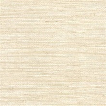 Allen Cream Faux Grasscloth Wallpaper