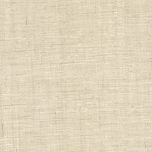 Eanes Beige Fabric Weave Texture Wallpaper