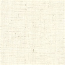 Eanes Cream Fabric Weave Texture Wallpaper