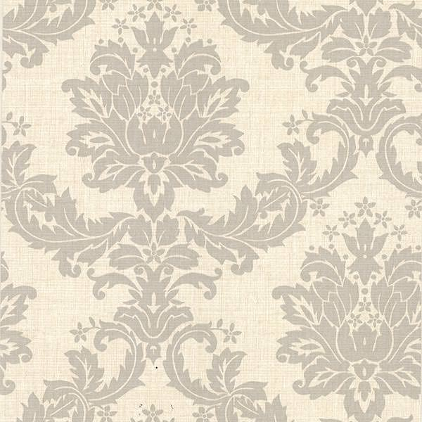 Everest Taupe Woven Damask Wallpaper 2446 83535