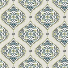 Adele Green Damask Wallpaper