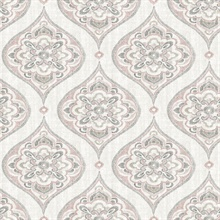 Adele Rose Damask Wallpaper