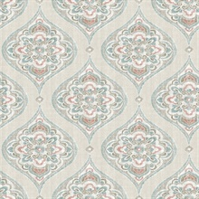 Adele Teal Damask Wallpaper