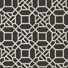 Adlington Black Geometric Wallpaper