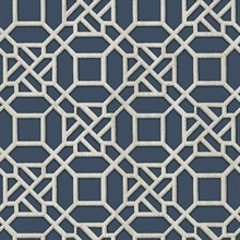 Adlington Blue Geometric Wallpaper