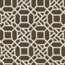 Adlington Brown Geometric Wallpaper