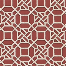 Adlington Maroon Geometric Wallpaper