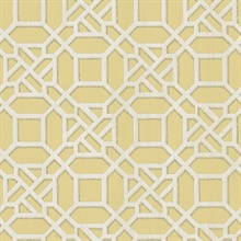 Adlington Yellow Geometric Wallpaper