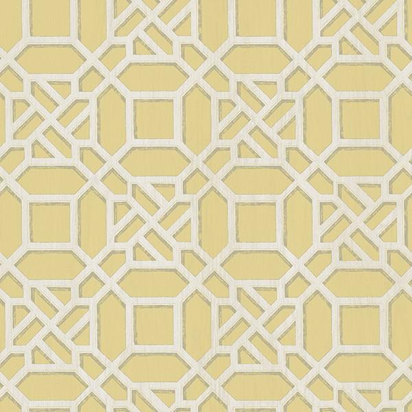 3112 002710 Adlington Yellow Geometric Wallpaper