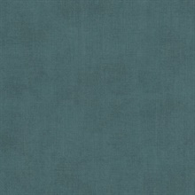 Agata Teal Linen Wallpaper