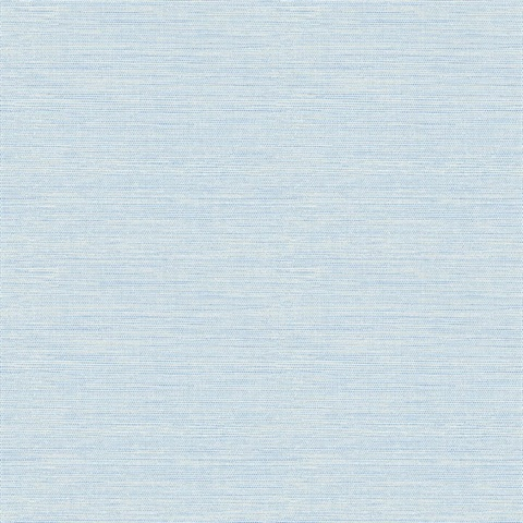 Agave Sky Blue Faux Grasscloth