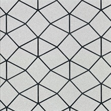 Albion Silver Geometric Wallpaper