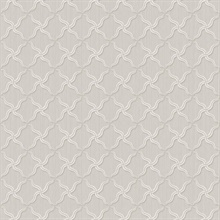 Alexi Grey Ornate Criss Cross Wallpaper