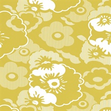 Alice - Mustard colourway wallpaper