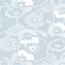 Alice - Powder Blue colourway wallpaper