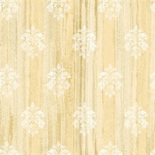 Alison Yellow Damask Motif