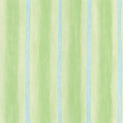 Aloha Green Ombre Stripe Wallpaper, 443-CI6318