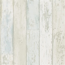 Alston Blue Wood Wallpaper