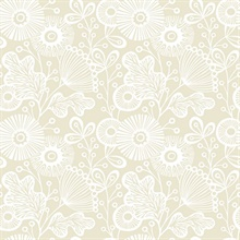 Ana Cream Floral Wallpaper