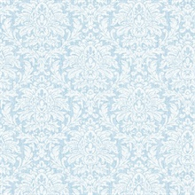Angela Blue Transparent Damask
