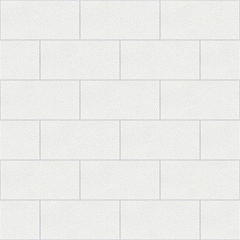 Angelo Ivory Subway Tile Wallpaper
