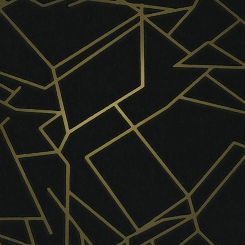 black and gold wallpaper Angles Black & Gold Wallpaper | Angles003 | Modern Designer Wallpaper black and gold wallpaper