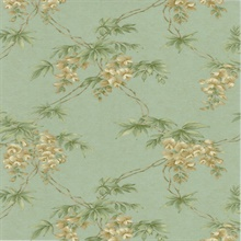 Annabelle Teal Floral Toile