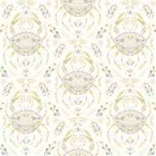 Annapolis Yellow & Grey Crustation Crab Wallpaper