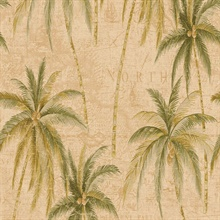 Antigua Palm Tree Toile
