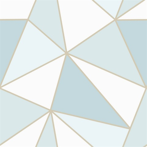 Apex Blue Geometric Wallpaper