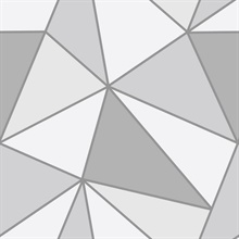 Apex Grey Geometric Wallpaper