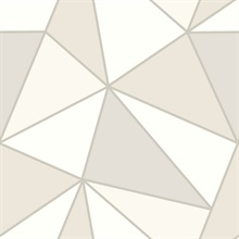 Apex Taupe Geometric Wallpaper