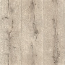 Appalacian Taupe Wood Planks Textured Wallpaper