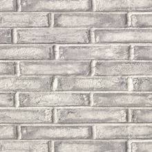 Appleton Dark Grey Faux Weathered Brick Vinyl Wallpaper