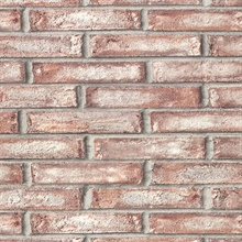 Appleton Maroon Faux Weathered Brick Vinyl Wallpaper