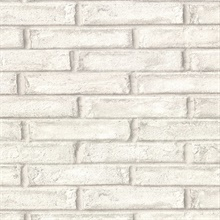 Appleton Taupe Faux Weathered Brick Vinyl Wallpaper