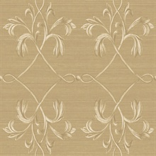 April Brown Acanthus Lattice Wallpaper