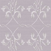 April Purple Acanthus Lattice Wallpaper