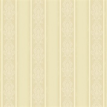 Arabelle Beige Damask Stripe Wallpaper