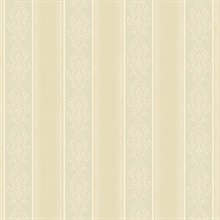 Arabelle Grey Damask Stripe Wallpaper