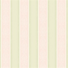 Arabelle Pink Damask Stripe Wallpaper