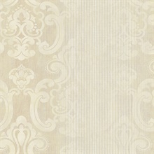 Ariana Gold Striped Damask