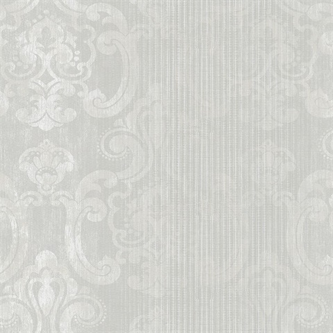 Ariana Pearl Striped Damask