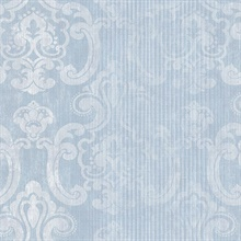 Ariana Seafoam Striped Damask