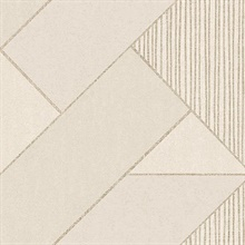 Art Deco Cream Glam Geometric Wallpaper