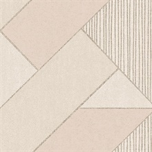 Art Deco Peach Glam Geometric Wallpaper